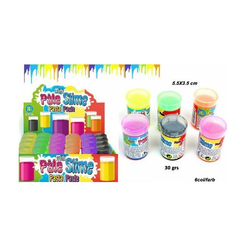 PATE SLIME BARIL FLUO  30GRS