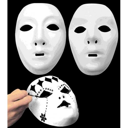 MASQUE BLANC A PEINDRE ADULTE