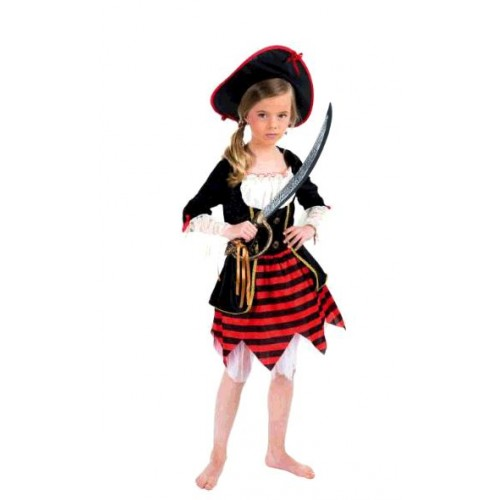 COSTUME PIRATE GIRL 116CM