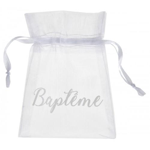 6 SACHETS BAPTÊME BLANC