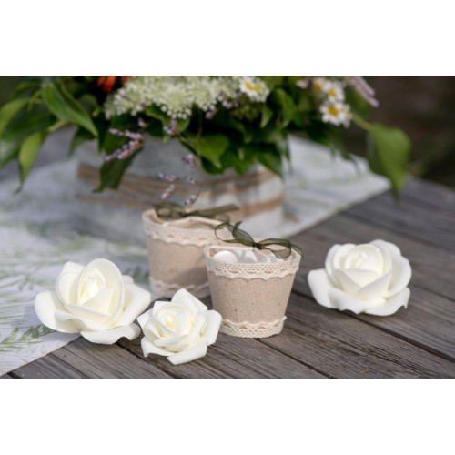 ASSORTIMENT ROSES BLANC X9