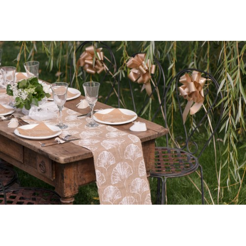 CH.TABLE FEUILLAGES NATUREL 3M