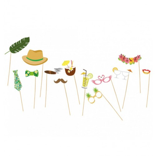 PHOTO BOOTH TROPICAL 13PCS