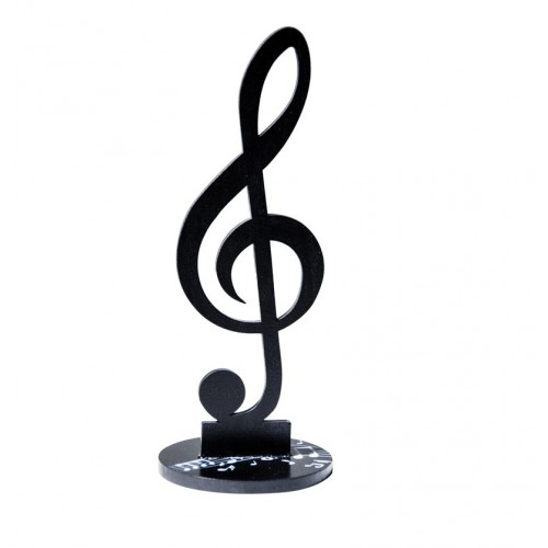 CENTRE TABLE CLEF DE SOL 25CM