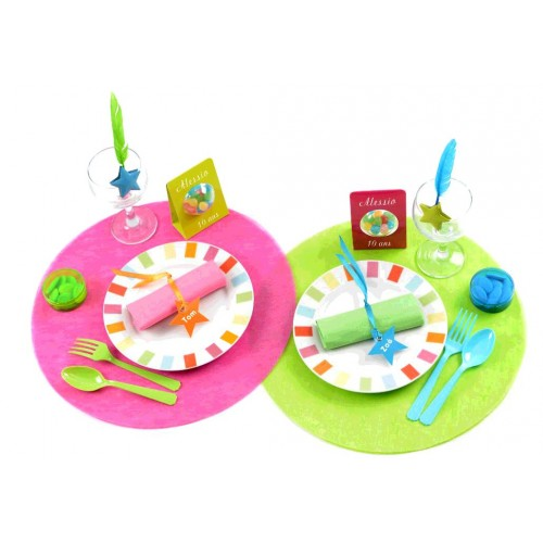 SET DE TABLE X10 TNT VERT