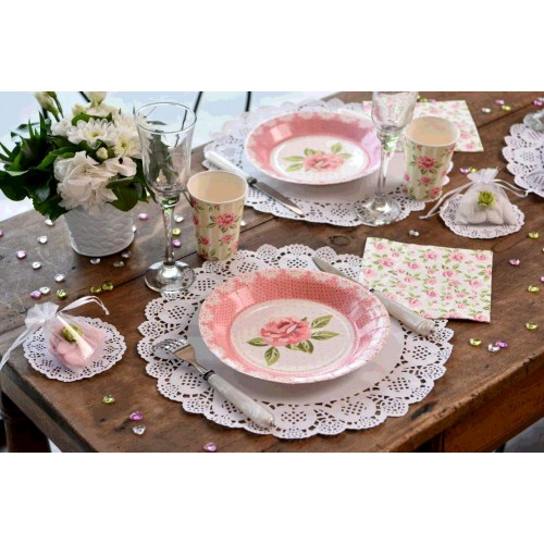SET TABLE DENTELLE BLANC