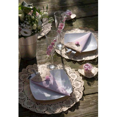 SET TABLE DENTELLE KRAFT