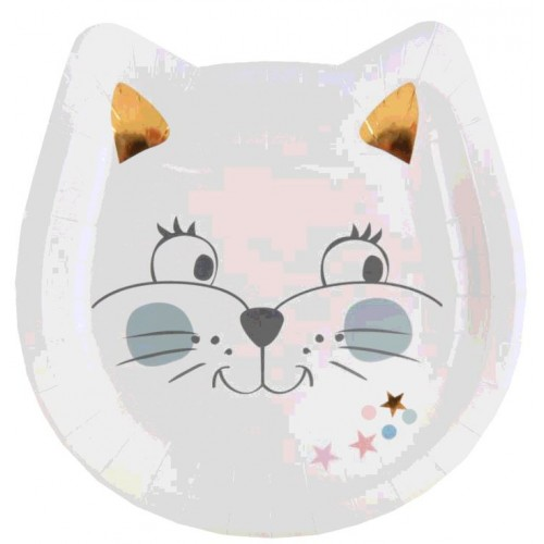 10 ASSIETTES KITTY PARTY MULTI