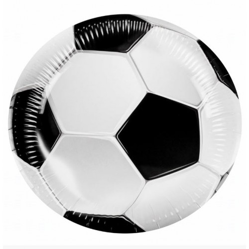 SET 6 ASSIETTES FOOTBALL 23CM
