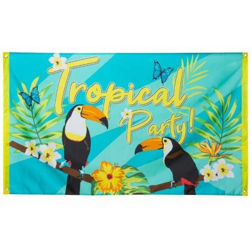 DRAPEAU TROPICAL PARTY 90X150C