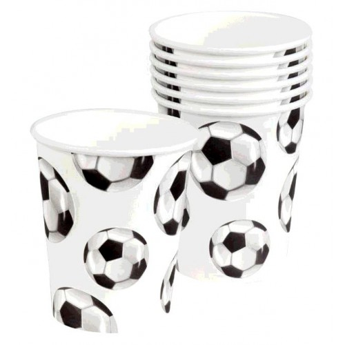 SET 6 GOBELETS FOOTBALL 25cl