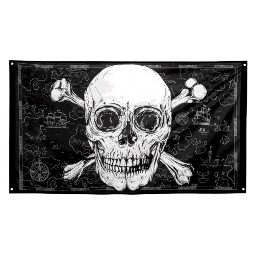 DRAPEAU  PIRATES 90X150 POLYES