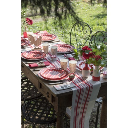 CHEMIN TABLE TORCHON ROUGE 3M