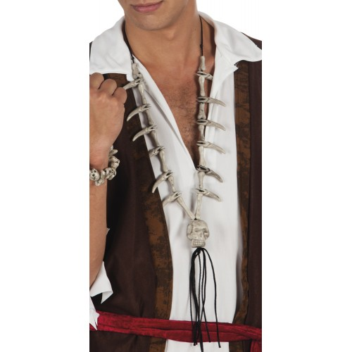 COLLIER PIRATE CRÂNE