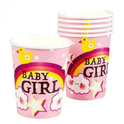 6 GOBELETS BABY GIRL