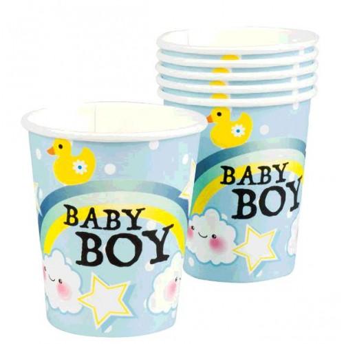6 GOBELETS BABY BOY