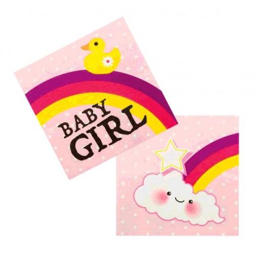12 SERVIETTES BABY GIRL