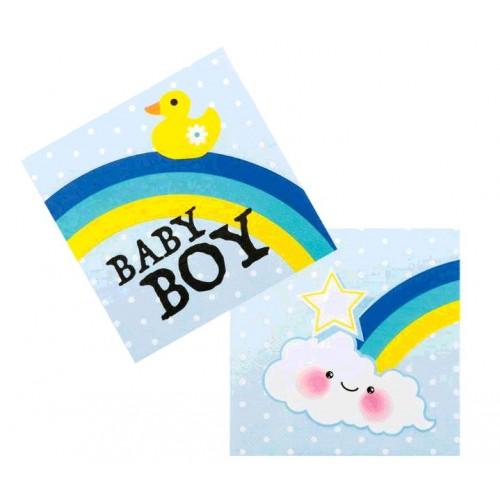 12 SERVIETTES BABY BOY