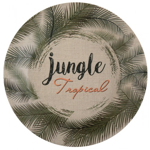 10 ASSIETTE JUNGLE VERT