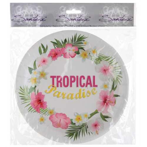 10 ASSIETTE TROPICAL MUKTICOLO