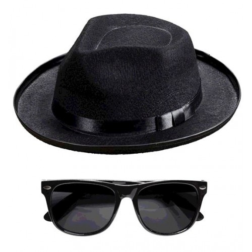 CHAPEAU LUNETTE BLUES MAN
