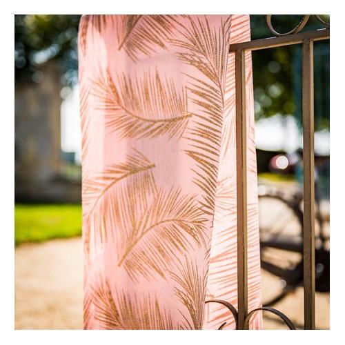 CHEMIN DE TABLE LIN ROSE FOUG