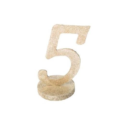 MARQUE TABLE CHIFFRE 5 PAILLETTE