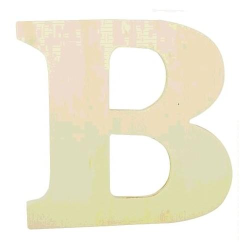 "LETTRE EN BOIS ""B"" A DECORER"