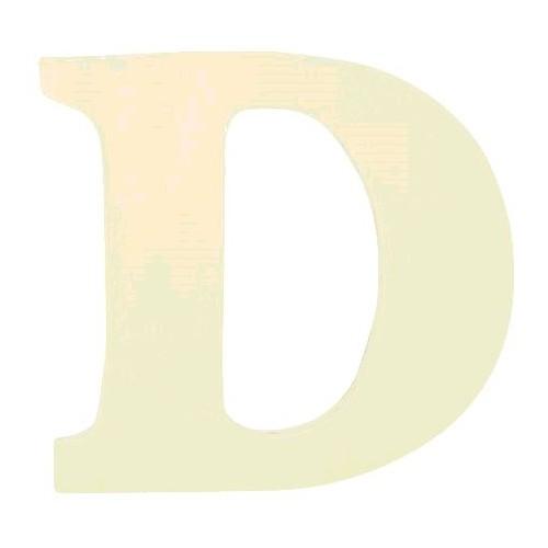 """LETTRE EN BOIS """"D"""" A DECORER"""