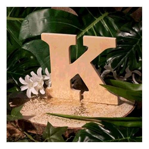 "LETTRE EN BOIS ""K"" A DECORER"