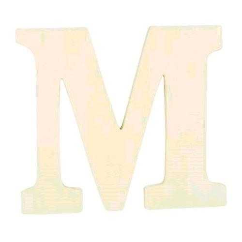"""LETTRE EN BOIS """"M"""" A DECORER"""