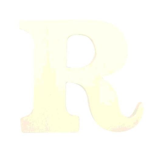 """LETTRE EN BOIS """"R"""" A DECORER"""