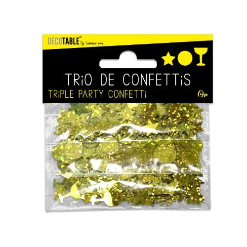 TRIO CONFETTIS OR