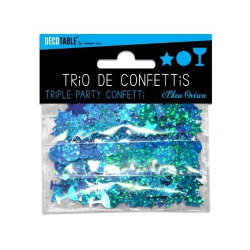 TRIO CONFETTIS BLEU