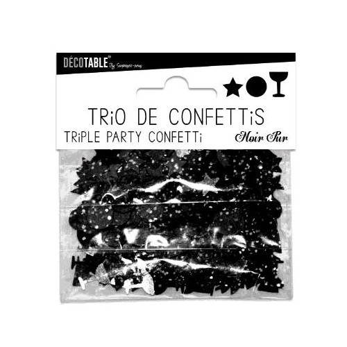 TRIO CONFETTIS NOIR