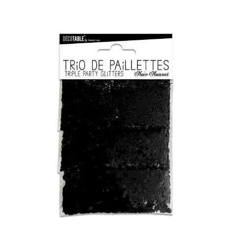 TRIO PAILLETTES NOIR NUANCE