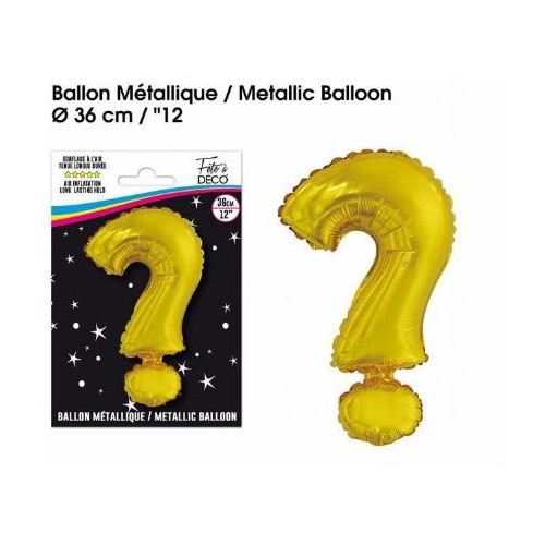 BALLON METALLIQUE OR  ?