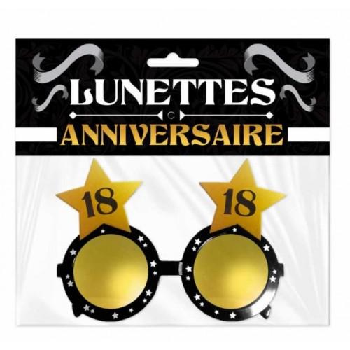 LUNETTES ETOILE ANNIVERSAIRE 18 ANS