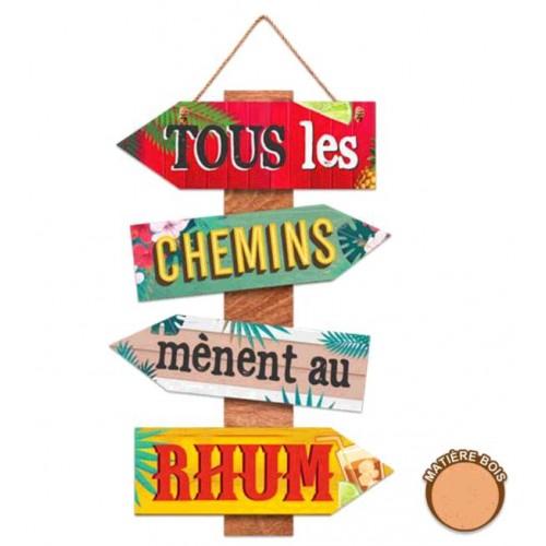 """PANNEAU DIRECTIONNEL """"TOUS LES CHEMINS..."""""""