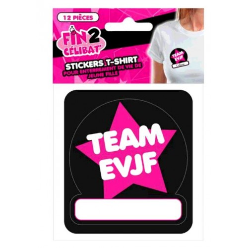 12 STICKERS T-SHIRT EVJF