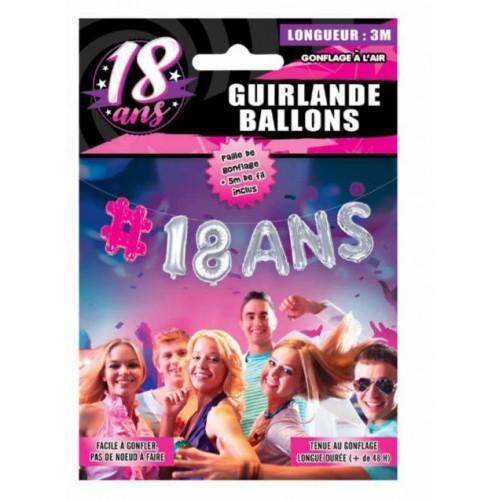 GUIRLANDE BALLON 18 ANS FEMME