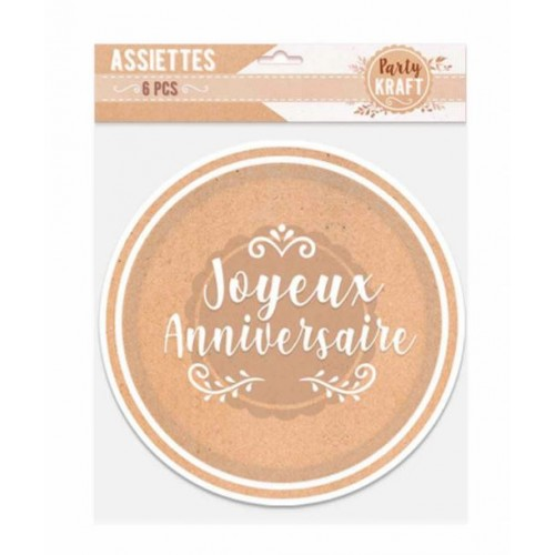 6 ASSIETTES PARTY KRAFT