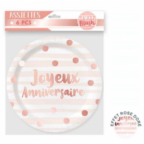 6 ASSIETTES PARTY BLUSH