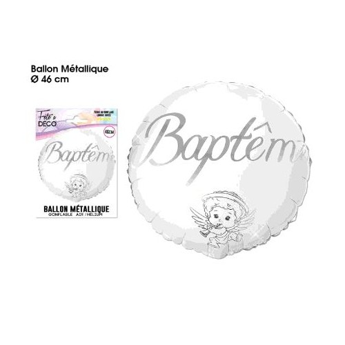 BALLON HELIUM BAPTEME