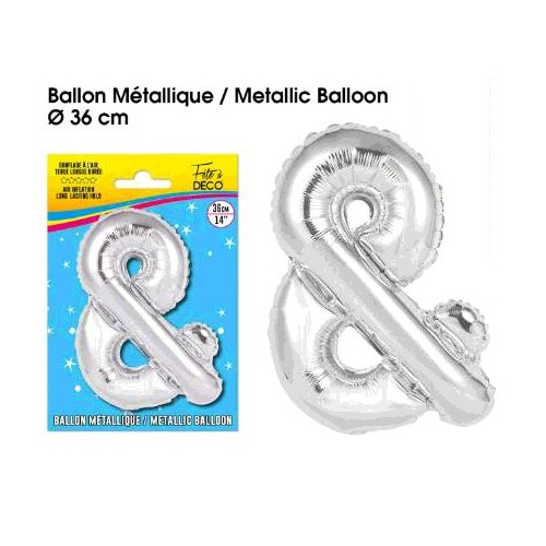 BALLON METAL ARGENT. &