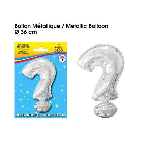 BALLON METAL ARGENT. ?