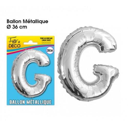 BALLON METAL ARGENT LETTRE G