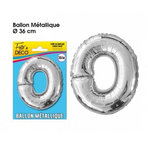 BALLON METAL ARGENT LETTRE O