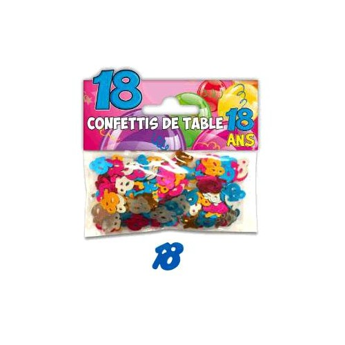 CONFETTIS TABLE 18 ANS