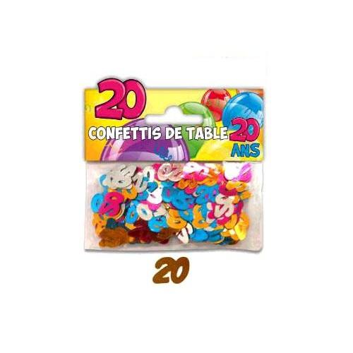 CONFETTiS TABLE 20 ANS